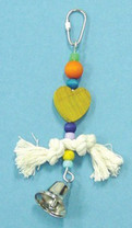 Bird Brainers Toy w  Rope & Plastic Beads 7in