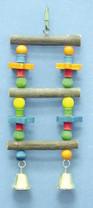 Bird Brainers Natural Ladder w Stars 10.5in