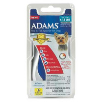 Adams Flea & Tick Spot On With Smart Shield Applicator for Toy Dogs 6-12lbs