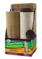 "3 Piece Cat Scratcher 21"" Sisal/Carpet"