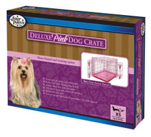 Four Paws Deluxe Pink Pink Crate 1ea