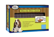 Four Paws Double Door Deluxe Crate- Divider Panel Included 42 x 28 x 30