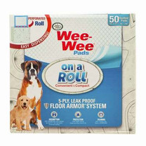 Four Paws Wee Wee Pad On A Roll Paisley 50Ct