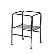 Prevue Pet Products Pre-Packed Cage Stand 18x14 18x18 White Black 2pc