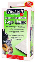 VITAKRAFT 512069 7-Pack Super Absorbant Cage Liners for Small Animals