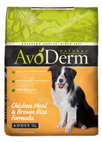 Breeder's Choice AvoDerm Natural Chicken Meal & Brown Rice All Life Stages 15lb