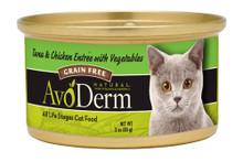 Breeder's Choice AvoDerm Natural Feline Tuna & Chicken Entree with Veg 3oz