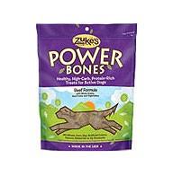 Zukes Power Bones Dog Treats Beef 6oz