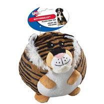 Ethical Pet Butterballs Dog Toy, 4-Inch, Jungle, Assorted