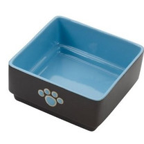 Ethical Products Spot Four Square Dish Dog Blue 5in