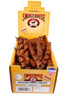 Smokehouse USA Made Bacon Skin Twists Small 1 2 Display Box 60ct