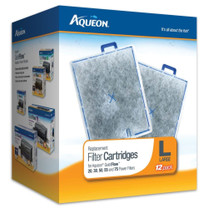 Aqueon Replacement Filter Cartridges for QuietFlow 20, 30, 50, 55, and 75 Large 12pk