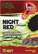 Zilla Night Red Incandescent Spot Bulb 75W