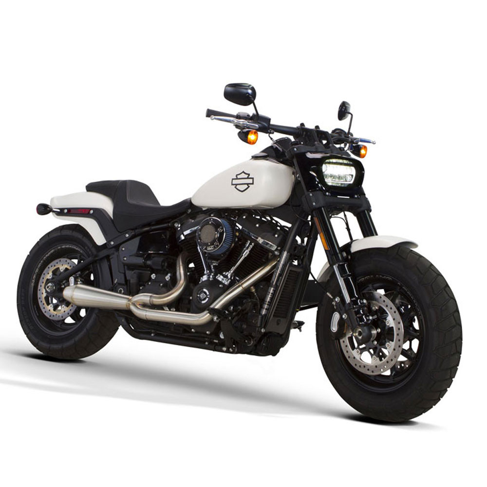 Two Brothers Racing 2-Into-1 Megaphone Gen II Exhaust for 2018 Harley Softail - Stainless Steel