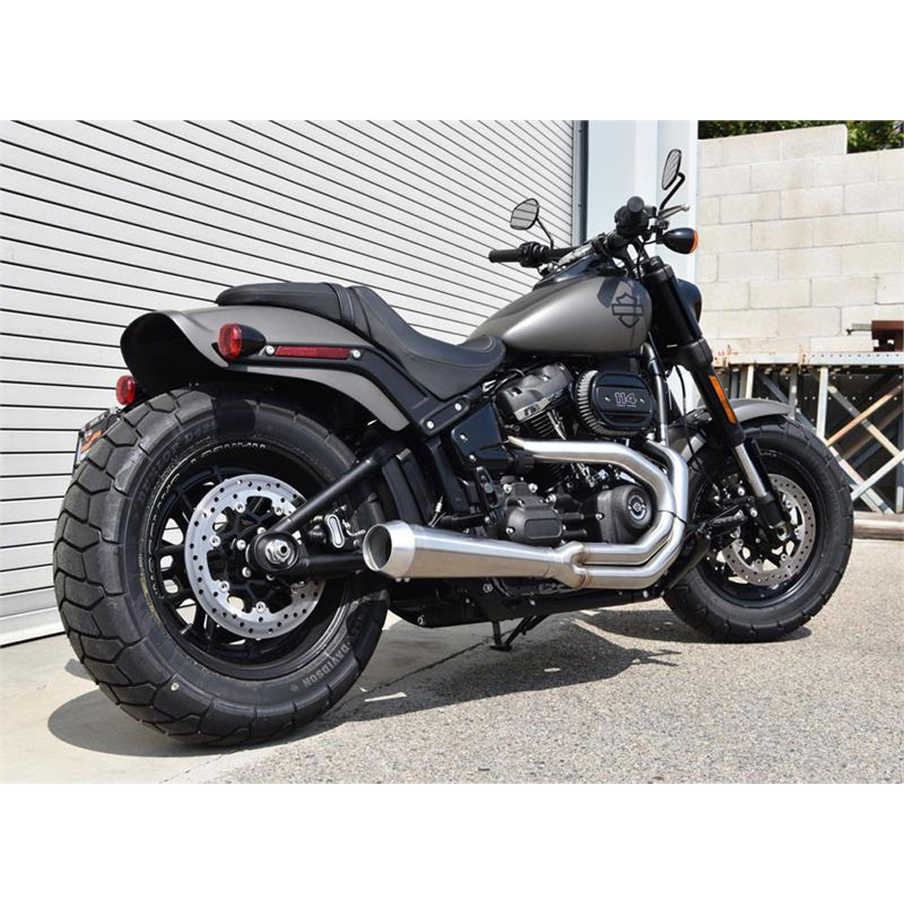 Bassani Road Rage 2-Into-1 Stainless Exhaust for 2018 Harley Fat Bob