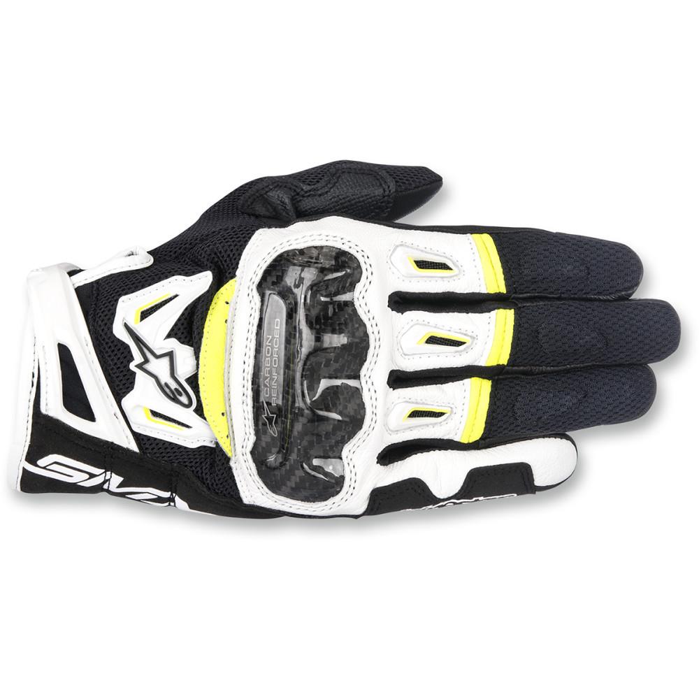 Alpinestars SMX-2 Air Carbon V2 Gloves - Black/White/Yellow