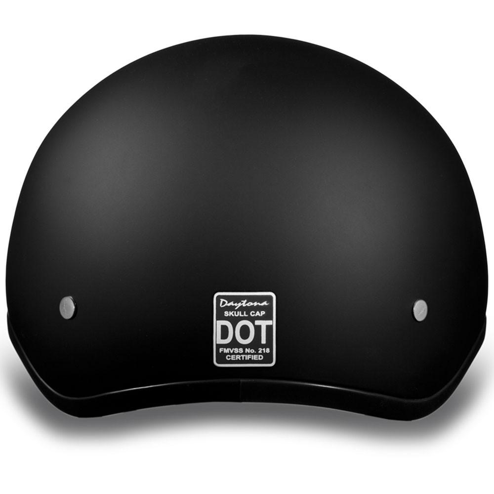 Daytona DOT Skull Helmet - Matte Black