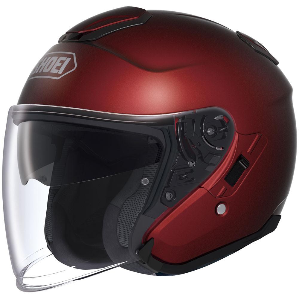 Shoei J-Cruise Open Face Helmet - Wine Red