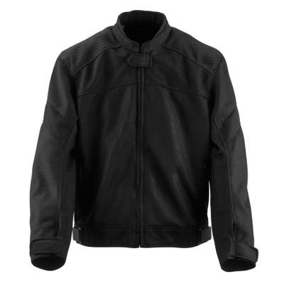 Black Brand Flow Mesh Jacket