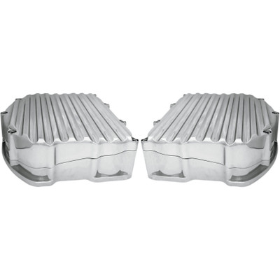 Covingtons Panhead-Style Finned Valve Covers for Harley Twin Cam