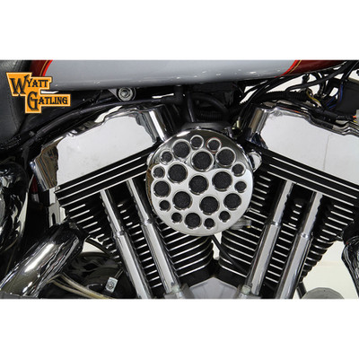 V-Twin Chrome Drilled Air Cleaner for 1991-2016 Harley Sportster