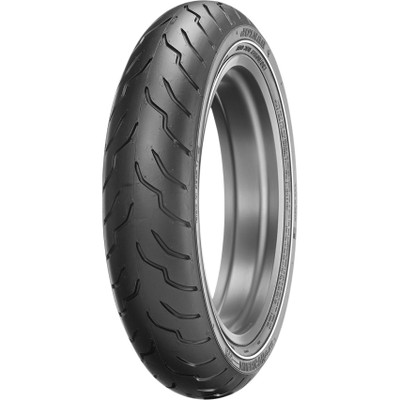 Dunlop American Elite Front Tire for Harley - Narrow White Stripe