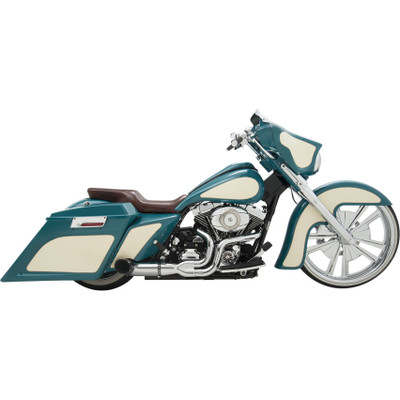 Python Rayzer 2-Into-1 Exhaust for 2007-2016 Harley Touring - Chrome