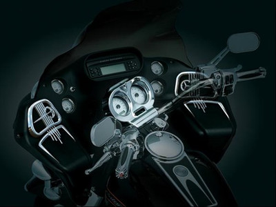 Kuryakyn Chrome Speaker Grills for 98-13 Road Glide