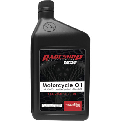 Vance & Hines Synthetic High-Performance 20W50 Motorcycle Oil Lubricant - 1QT