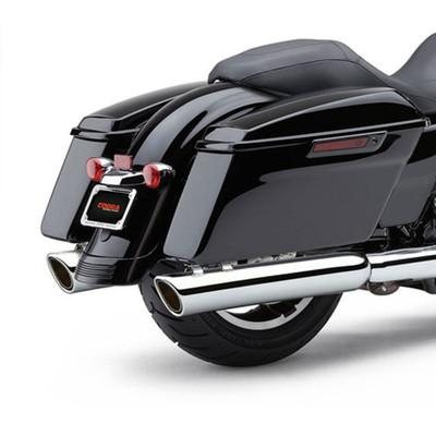 Cobra 909-Twins Exhaust Mufflers for 2017 Harley Touring - Chrome