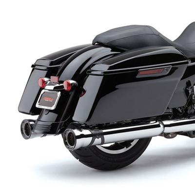"Cobra 4.5"" Race Pro Slip-On Exhaust Mufflers for 2017 Harley Touring - Chrome"