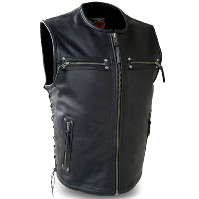 First Mfg. Brawler Leather Vest