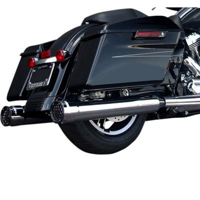 "Firebrand 4"" Grand Prix Slip-On Exhaust Mufflers for 2017 Harley Touring - Chrome"