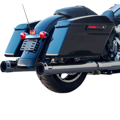"""Firebrand 4"""" Loose Cannon Slip-On Exhaust Mufflers for 2017 Harley Touring - Chrome"""
