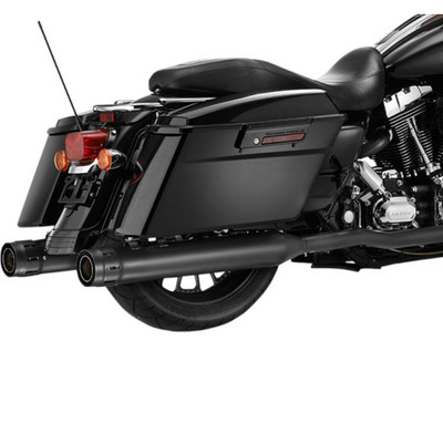 """Firebrand 4"""" Loose Cannon Slip-On Exhaust Mufflers for 2017 Harley Touring - Black Ceramic"""