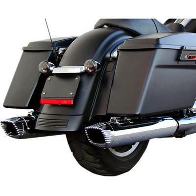 "Firebrand Baritone 4"" Slip-On Exhaust Mufflers for 2017 Harley Touring - Chrome"