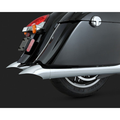 Vance & Hines Chrome Turndown Slip-On Exhaust Mufflers for Indian