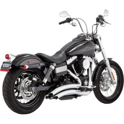 Vance & Hines Big Radius Exhaust for 2006-2017 Harley Dyna - Chrome