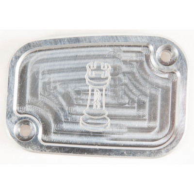 Rooke Customs Front Master Cylinder Cover for 2008-2013 Harley Touring  - Raw