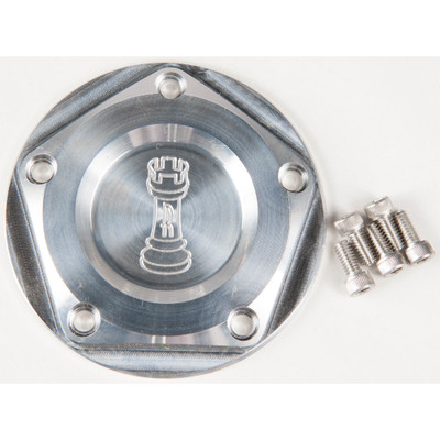 Rooke Customs Ignition Points Covers for Harley Twin Cam - Raw