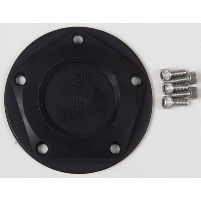 Rooke Customs Ignition Points Covers for Harley Twin Cam - Black