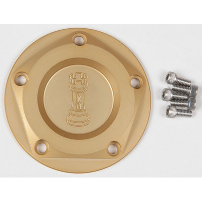 Rooke Customs Ignition Points Covers for Harley Twin Cam - Gold