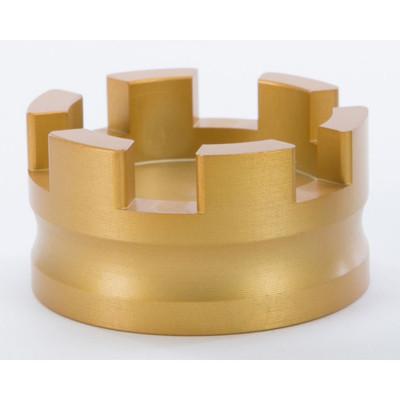 Rooke Customs Oil Dipstick Cap for Harley - Gold