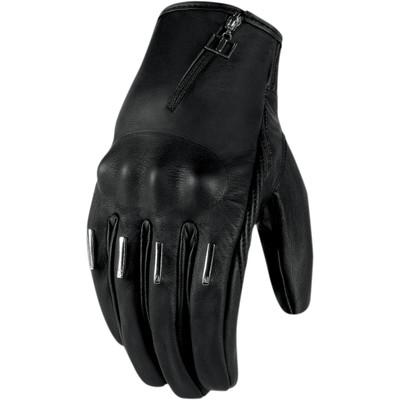 Icon 1000 Hella Kangaroo Black Short Women's Gloves