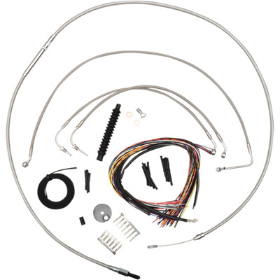 """LA Choppers Stainless  15""""-17"""" Cable Kit for 2014-2015 FLHR w/o ABS"""