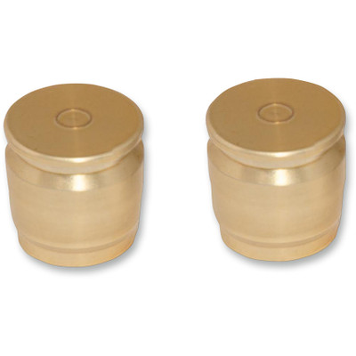 Pro Pad Brass Shell Casing Billet Docking Station Covers for Harley - 2-pc. Short