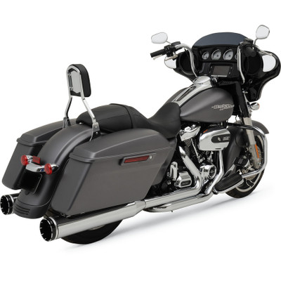 Khrome Werks 2-Into-2 Exhaust System with Two-Step Crossover Headers for 2017 Harley Touring - Chrome