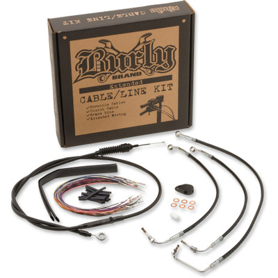 Burly Extended Control Cable and Brake Line Kit for Harley Touring