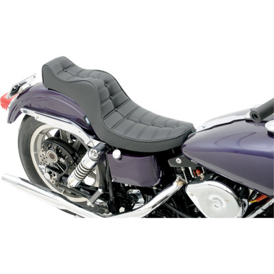 Drag Specialties Mini King and Queen Seat for 1958-1984 Harley - Scorpion Stitch