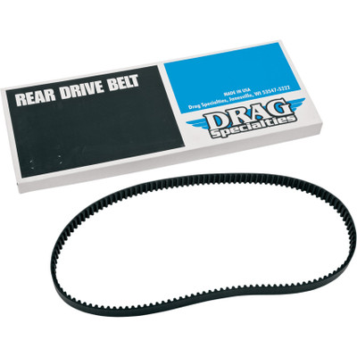 """Drag Specialties 1-1/8"""" Rear Drive Belt 128 Tooth for Harley - Repl. OEM #40022-91"""